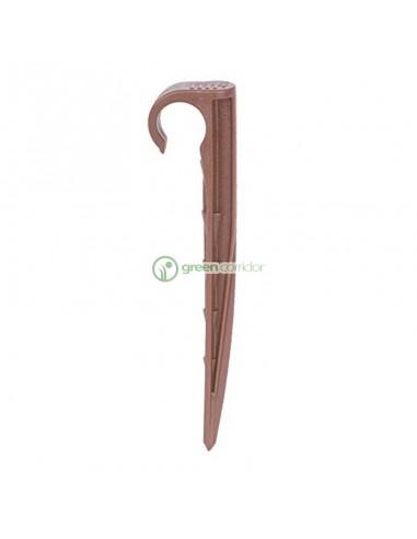 Стійка Asta з крюком для кріплення коричнева, 25 шт